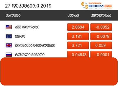 Novyj Oficialnyj Kurs Dollara 2 8694 Lari